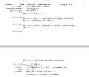 apparent arrest record of Geraldine?