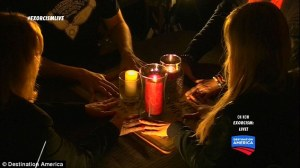The two-hour program wrapped up with a seance (above) followed by the exorcism attempt in Doe's bedroom Read more: http://www.dailymail.co.uk/news/article-3297794/Exorcism-Live-Destination-America-falls-flat-mocked-Twitter.html#ixzz3qEgJzIDx Follow us: @MailOnline on Twitter   DailyMail on Facebook