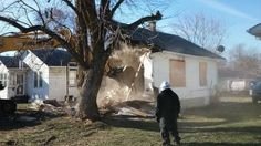 Zak Bagans demolishes demon house.