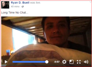 Ryan Daniel Buell, goes live from rehab