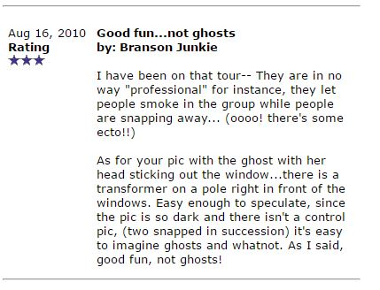 Branson Ghost Tour Reviews.8