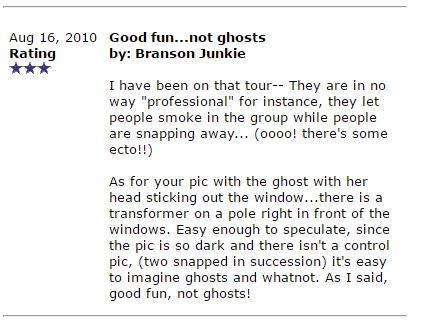 Branson Ghost Tour Reviews.8
