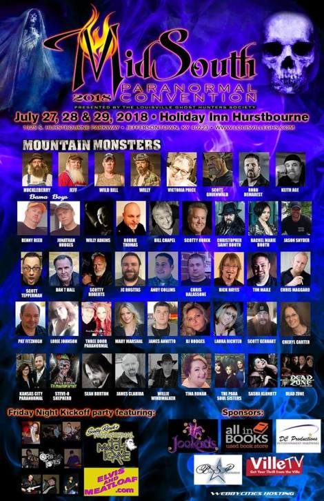 Heavy hitters to attend Mid South Paranormal Convention July27-29th