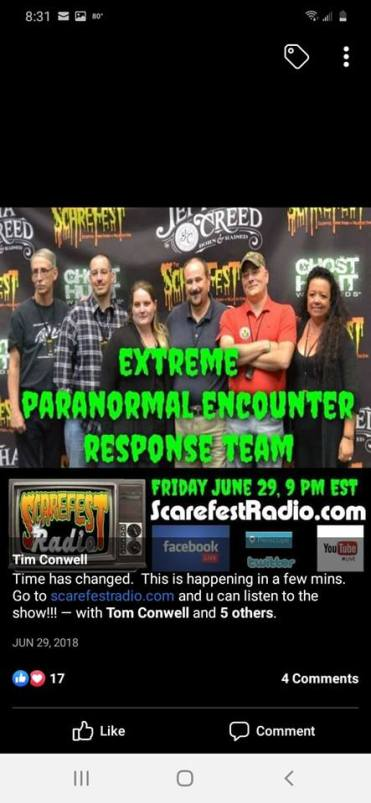 Not keeping para unity but speaks of it his paranormal team attacks paer,than tells people to block me regarding the truth and his event he did nopt get to have because they cancelled it with more lies.